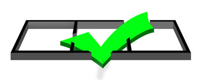 Check mark 3D Stock Photo