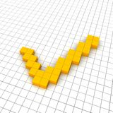 Check mark 3d icon Stock Photography
