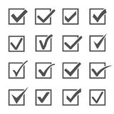 Check Mark And Ticks Icons. Royalty Free Stock Photos