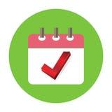 Check Mark Appointment in Agenda Icon Illustration Stock Photo