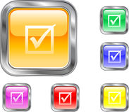 Check Mark Button Stock Photo