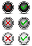 Check mark buttons Royalty Free Stock Photos