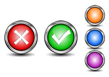 Check mark buttons Royalty Free Stock Image
