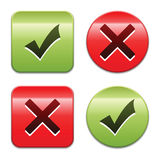 Check mark buttons Stock Images