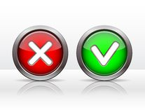 Check mark buttons. Royalty Free Stock Photography