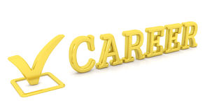 Check mark and career. This is a 3D rendered picture Stock Photo