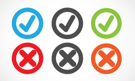 Check mark circles Royalty Free Stock Photography