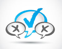 Check mark communication concept Royalty Free Stock Image