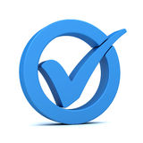 Check mark concept 3d illustration Royalty Free Stock Photography