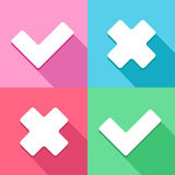 Check mark Correct and wrong icon great for any use. Vector EPS10. Royalty Free Stock Photography
