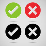 Check mark Correct and wrong icons set great for any use. Vector EPS10. Stock Photos