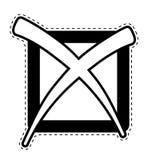 Check mark dotted sticker. Vector illustration design stock illustration
