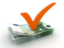 Check mark and Euro Royalty Free Stock Image