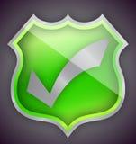 Check mark green shield illustration design Royalty Free Stock Photo