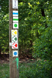 Check mark for hiking ways Royalty Free Stock Image