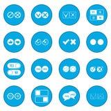 Check mark icon blue Royalty Free Stock Photo
