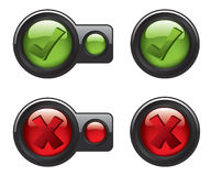 Check mark icon buttons Stock Photo