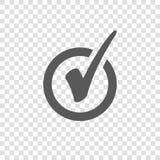 Check Mark Icon in Circle. Tick Symbol stock illustration