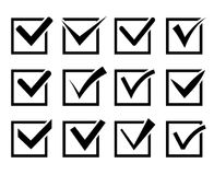 Check mark icon set Stock Images