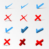 Check mark icon set Royalty Free Stock Photography