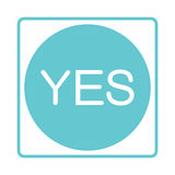 Check mark icon. Tick symbol in blue color. Yes, ok. Approved Stock Image