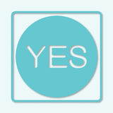 Check mark icon. Tick symbol in blue color. Yes, ok, approved Royalty Free Stock Images
