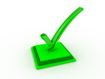 Check mark icon. Transparent green check mark on groupe of rectangle stock image