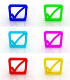 Check mark icons Royalty Free Stock Photo