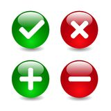 Check mark icons illustration Stock Photos