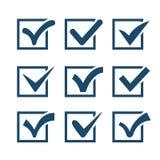 Check mark icons isolated on white background Royalty Free Stock Image