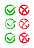 Check mark icons Royalty Free Stock Image