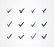Check mark icons set Royalty Free Stock Photography