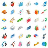 Check mark icons set, isometric style Royalty Free Stock Photography