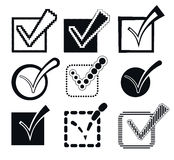 Check Mark Icons, Vector Illustration Stock Photography