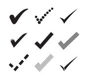 Check mark icons Stock Photo