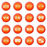 Check mark icons vector set Stock Images