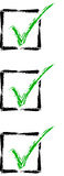 Check Mark List Royalty Free Stock Images
