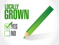 check mark on locally grown illustration design Stock Photography