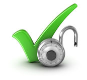 Check Mark with Lock Stock Photography