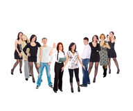 Check mark made of people Royalty Free Stock Photography