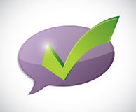 Check mark message of approval Royalty Free Stock Image