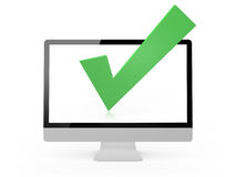 Check Mark and Monitor Royalty Free Stock Images