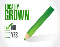 Check mark not locally grown illustration design Royalty Free Stock Photos