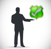 Check mark and presentation symbol Royalty Free Stock Photo