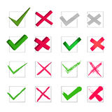 Check mark set Royalty Free Stock Images