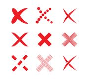 Check mark sticker set Royalty Free Stock Images