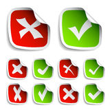 Check mark stickers collection Royalty Free Stock Photography