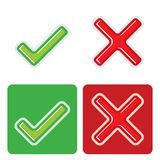 Check mark stickers Royalty Free Stock Image
