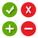 Check mark stickers. On a white background. Vector illustration Stock Photos