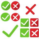 Check mark stickers yes no. Vector. Check mark stickers yes no vector illustration